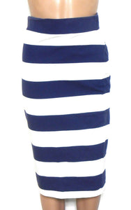 Forever New tube pencil skirt, navy & white, sz. 8, exc. cnd.