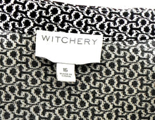 Load image into Gallery viewer, Witchery midi dress with hip ties, sz. 16, black & white - NWOT