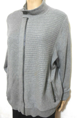 Calvin Klein grey cotton cardigan, jacket like, sz. 14/L, near new