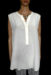 Trenery ivory silk tunic top, casually elegant, sz. 16/XL, NWOT