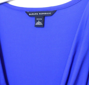 Banana Republic dress sapphire blue jersey, sz. 14/L   NWOT