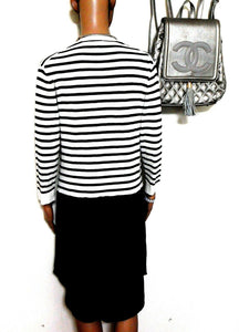 Witchery black & white knit dress, super casual day style, sz.8-12, NWOT