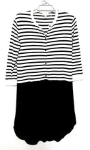 Load image into Gallery viewer, Witchery black & white knit dress, super casual day style, sz.8-12, NWOT