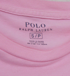 Ralph Lauren cropped top, baby pink, sz. 10-12/S  V.G. cnd.