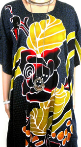 "Kaftan, "" Life Less Ordinary"", spectacular and showy, one size, NWOT, black"
