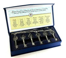 Load image into Gallery viewer, Treasured Keys to Life, boxed set, 6 chain necklaces, new