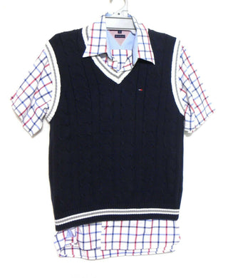 Tommy Hilfiger sporty cotton vest, dark blue, sz. L, near new