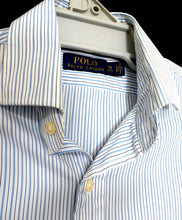 Load image into Gallery viewer, Ralph Lauren pin striped shirt, white & blue, sz. S, as new