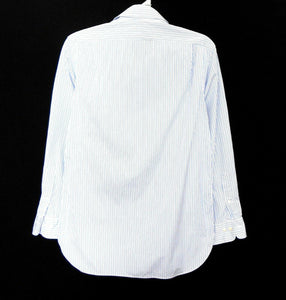 Ralph Lauren pin striped shirt, white & blue, sz. S, as new