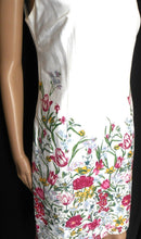 Load image into Gallery viewer, Review white floral dress, cool and fresh, sz. 8  exc. cnd.