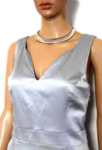 Load image into Gallery viewer, Review silver cocktail/party dress, sz. 12- near new, subtle glamour style