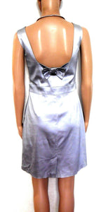 Review silver cocktail/party dress, sz. 12- near new, subtle glamour style