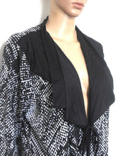 Load image into Gallery viewer, Taking Shape tunic shrug style  with ties, black and white, sz. S - L, as new