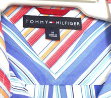 Load image into Gallery viewer, Tommy Hilfiger blue striped shirt, short sleeves, as new - sz. M - L