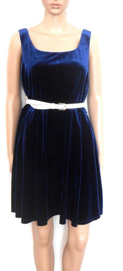 Forever New, dark blue velvet dress, day & after hours, sz. 16, exc. cnd.