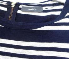 Load image into Gallery viewer, Marcs nautical striped cotton dress, dark blue/white, sz. 10 - with pockets, exc. cnd.