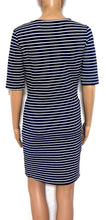 Load image into Gallery viewer, David Lawrence super figure shaping striped stretch dress, sz. 12/M Exellent cond