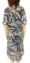 Load image into Gallery viewer, Sussan- mid calf dress, sz. 14L black & white, NWOT, sheer and floaty