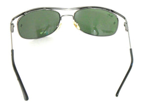 Ray Ban green lens sunglasses, steel frames