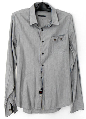 Zanerobe casual shirt, with pocket, blue/grey, sz. S, esc. cnd.