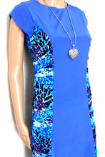 Load image into Gallery viewer, O'Hara dress, electric blue silk, sz. 8 - super for a first date! ***NWT