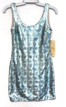 Load image into Gallery viewer, Brooke Daniels jazzy party/club dress, sz. 8 shimmer aqua, ***NWT
