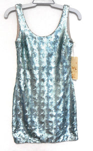 Brooke Daniels jazzy party/club dress, sz. 8 shimmer aqua, ***NWT