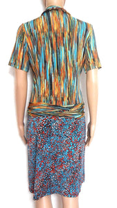 Roberto Cavalli dress, flowing jersey, sz. 12/38 Made in Italy, exc. cnd.