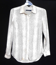 Load image into Gallery viewer, Sportscraft  silk blend shirt, beige python pattern, sz. 8-12, for all seasons