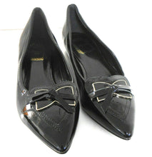 Load image into Gallery viewer, Christian Dior , black patent leather flats, sz. 9, NWOB