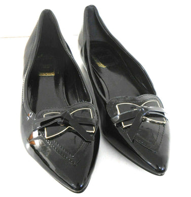 Christian Dior , black patent leather flats, sz. 9, NWOB