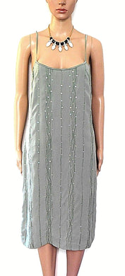 Country Road - moss green party dress, sz. 10/S shimmer sequins, exc. cnd.