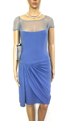 George Gross super powder blue  dress, tulip hemline, sz. 8, near new