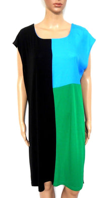 Howard Showers jersey tunic dress, sz. 16, block colours   #343R135J