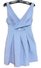 Load image into Gallery viewer, Zara Trafaluc super sexy blue pleat dress, sz. 10/L, NWOT