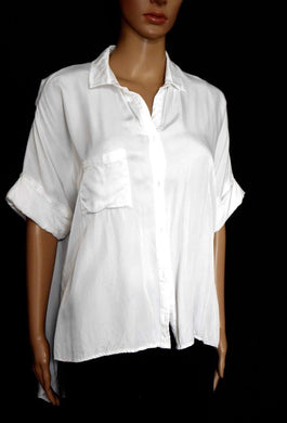 David Jones  Staple the Label loose white shirt, sz. 12-14, exc. cnd.
