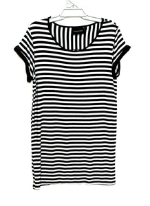 "Minkpink striped tunic dress, sz. 14/L ""Escape Plan"", near  new - black & white"
