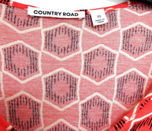 Load image into Gallery viewer, Country Road stretch tunic dress, coral - geometric, sz. 10/XS, exc. cnd.