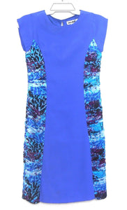O'Hara dress, electric blue silk, sz. 8 - super for a first date! ***NWT