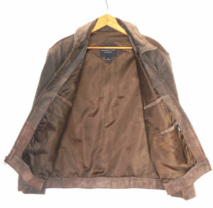 Preswick & Moore leather jacket, brown, sz. M - L, exc. cnd.