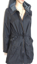 Load image into Gallery viewer, Regatta black parka jacket, sz. 12, with hood, lightweight, exc. cnd.