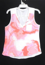 Load image into Gallery viewer, Calvin Klein top, pink & white with pocket, sz. 12/M  as new