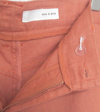 Load image into Gallery viewer, Sass & Bide cropped linen/cotton pants, cinnamon, Papa Sucre, sz. 28, near new