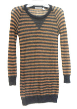Load image into Gallery viewer, Country Road knit tunic, mohair blend, beige/grey striped, sz. 10/XXS, exc. cnd.