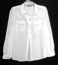 Load image into Gallery viewer, Just Jeans cool white shirt with pockets, sz. 16 - near new, cotton/linen, near new