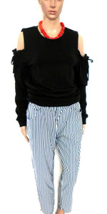 Sass & Bide striped pull on capri pants, sz. 12  - super casual chic