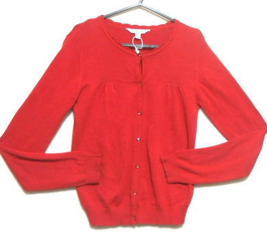 Pumpkin Patch red cotton cardigan, sz. 12  - for all seasons