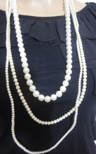 Load image into Gallery viewer, Pearl necklace, 3 strand - long - Made in Italy