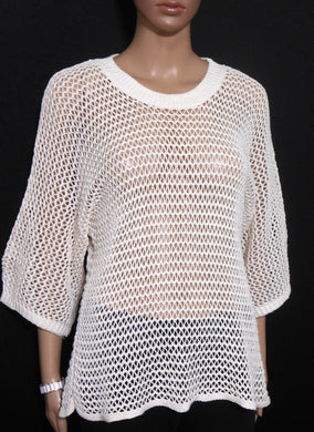 Witchery cream chunky crochet top sz. 10-12 S-M NWOT