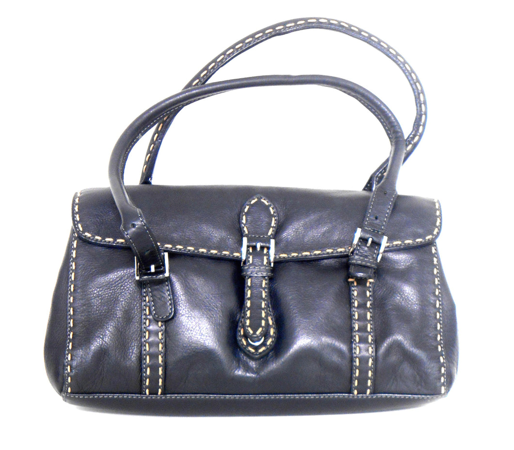 Koji black leather bag, medium size, 3 comp. exc. cnd.